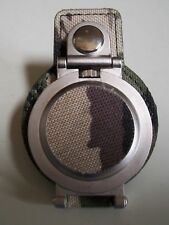 Men's Camouflage Clip On Silver Tone Fashion numbers Pocket Watch