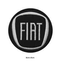 Fiat Car Brand Logo Racing Embroidered Patch Iron on Sew On Badge For Clothe etc