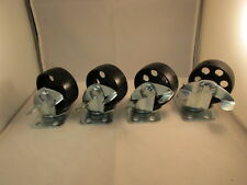 "(4) 3"" steel swivel wheels caster casters with brake 330 lb rated capacity each"