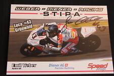 Card Kawasaki ZX-10R 2015 #43 Luca Grünwald (GER) IDM Superbike (HW) signed
