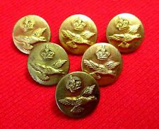 World War II RCAF Buttons King's Crown Royal Canadian Air Force wslu1