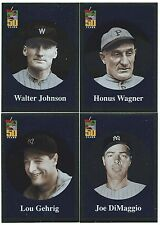 2001 Topps Before There Was Topps Lou Gehrig Joe DiMaggio NY Yankees 2 card lot