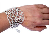 Rhinestone Austrian Crystal Bracelet Drag Queen Bridal Pageant Prom Large