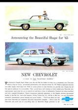 "1965 CHEVROLET BEL AIR IMPALA SEDAN AD A4 POSTER PRINT LAMINATED 11.7""x8.3"""