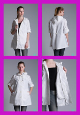 O'NEILL WHITE HOODED CASUAL SUMMER JACKET SIZE SMALL ROLL UP SLEEVES RP £65 BNWT
