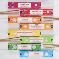 Satya Genuine Nag Champa Incense Sticks Joss 15g Mixed Flavors