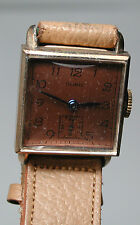 New RARE Antique Vintage DORIC Yellow Gold GF  Mens Wrist Watch #YY134