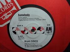 """Bryan Adams """"Somebody"""" Very Rare Oz  PROMO 7"""""""