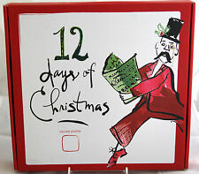"""Lenox HOLIDAY 12 Days of Christmas 10"""" Square Platter Serving Plate Tray - NEW"""