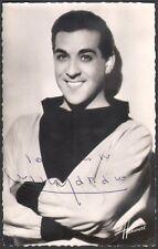 Louis Mariano. Photographie signée adressée à André Vendeuil. Harcourt vers 1952