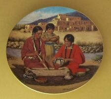 Proud Indian Families Preparing The Berry Harvest Plate Native American