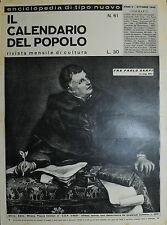""""""" IL CALENDARIO DEL POPOLO N° 61/ OTT/1949 """"  FRA PAOLO SARPI"""