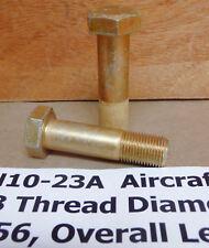 (2) NEW AN10-23A Bolts Undrilled 5/8-18 Thread Diameter Aviation Hardware