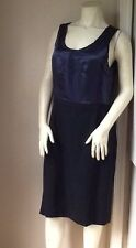 NWT - Banana Republic Wool Silk Colorblock Career Shift Sleevless Knee Length 12