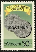 St. Vincent #1079b MNH Specimen CV$0.70 East Caribbean Currency Coins Perf 13...