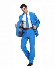 U Look Ugly Today Men's Party 3 Piece Suit Blue Medium