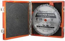 Avanti Pro 8 in. x 24-Tooth Stacked Dado Carbide Saw Blade Set w/ Wooden Storage