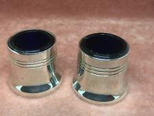 A Superb Pair Vintage Luncheon House Silver Plated Mustard Pots c1920 - 1940