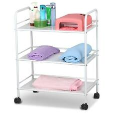 White 3 Shelf Large Salon Trolley Cart Beauty Spa Storage Equipment Rack