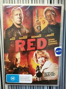 Red DVD Action Bruce Willis Morgan Freeman Helen Mirren John Malk R4 Action NEW