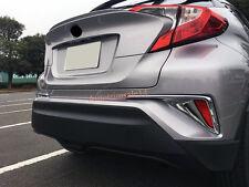2PCS ABS Exterior Rear Fog Light Lamp Cover Trim For Toyota C-HR CHR 2016-2017