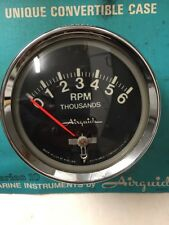 VINTAGE AIRGUIDE 1023 OLD BOAT TACHOMETER~TACH GAUGE~ MERCURY OUTBOARD~1967-1976