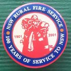 NEW SOUTH WALES RURAL FIRE SERVICE. 100 YEARS OF SERVICE TO NSW 25 MM PIN BADGE