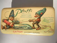Pfaff Blechdose Zwerge G.M. Kaiserslautern Nähmaschine Lithografie F. Reiss