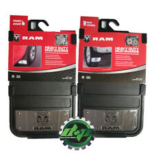 Dodge Ram heavy duty 12x23 mud guard flap mudflap stainless steel SET of 4 new