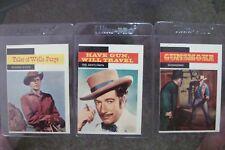 Gunsmoke Trading (4) card lot show partial set TV WESTERNS have gun travel 1958