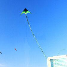 HOT Black &Green Kite Tail 15M / 49ft Single Line Kites Delta Kites Outdoor Toys