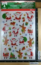 Christmas House CHRISTMAS SANTA Stickers PUFFY SANTA MORE GOLD FOIL