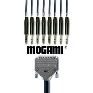 D-SUB Analog Tascam Standard  DB25 Multicore Mogami   8 Way NP3X Neutrik Black