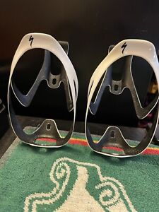 Specialized Rib Cage Water Bottle Cages Preowned Gold and White