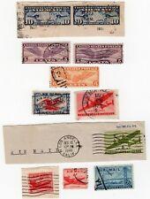 11 Used Us Air Mail Stamps 1926-1949 Sc#C7pr C12 C16 C19 C23 C25 C26 C33 C36 C39