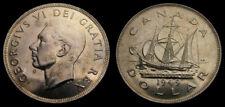 Canada 1949 King George VI Silver Dollar Toned BU