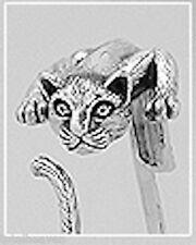 25.42g Solid Sterling Silver Puma Cat Cougar Cuff Bangle Bracelet  55x24mm