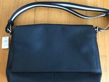 NWT Authentic Coach Charles Messenger Bag Midnight Blue Leather - Retai $450