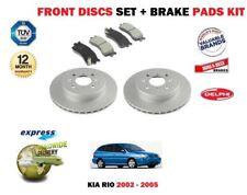 FOR KIA RIO 1.3i 1.5i 7/2002-10/2005 NEW FRONT BRAKE DISCS SET + DISC PADS KIT