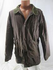 LL Bean Mens Barn Field Coat Chore Jacket XL Regular Plaid Lined Brown VTG