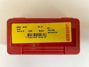 Dormer E500 HSS metric hand / machine,  taper, second & plug taps. M10 /1.5