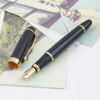 Jinhao X450 Fountain Pen Black Mordern Medium Nib Gold Trim New Perfect BG