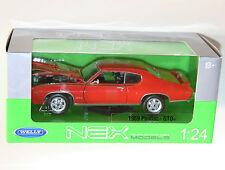 Welly - 1969 PONTIAC GTO (Orange) - Die Cast Model Scale 1:24