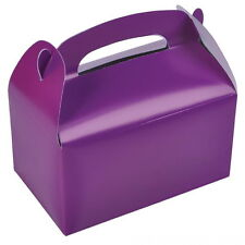 48 PURPLE PARTY TREAT BOXES FAVORS GOODY BAGS BAZAAR PRIZE GIFT BASKET CARNIVAL