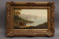 Maler um 1700: Italienische Küstenlandschaft mit Europa auf dem Stier Mythologie