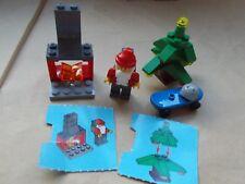 LEGO CITY CHRISTMAS SCENE SANTA'S CHRISTMAS EVE DELIVERY FIREPLACE TREE PRESENTS