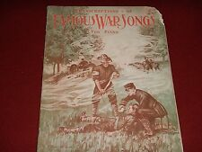 1907 - Transcriptions of Famous War Songs - Piano Vocal Sheet Music book