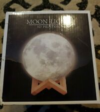Engraved 3D Moon Lamp for Wife,Personalized 5.9 Inch 3D Printing (For Wife)
