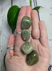 4 VESUVIANITE Tumbled Stones Crystal Reiki Charged 2.5oz