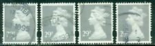 Great Britain Sg-Y1687, Scott # Mh-218 Machin, Used, 4 Stamps, Great Price!